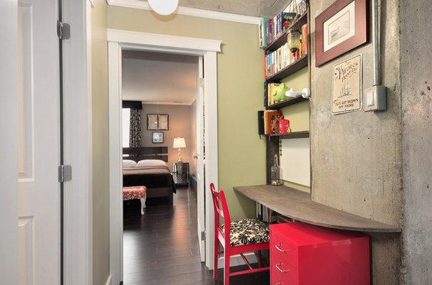 Contemporary Home Office by Le Papillon Designs Ltd.