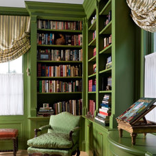 Traditional Home Office by Charles Spada Interiors