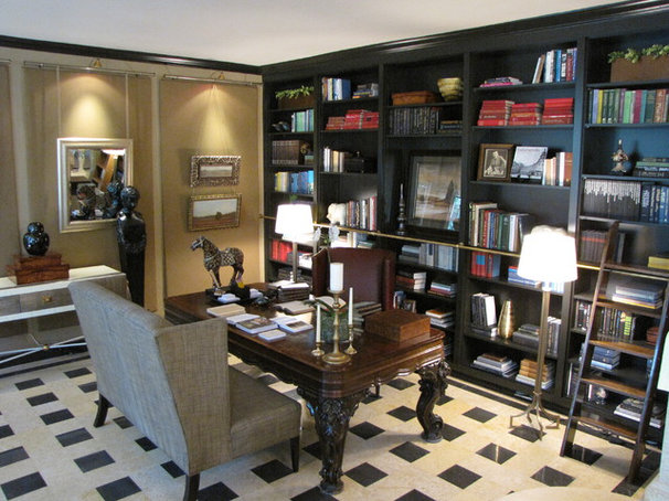 Traditional Home Office by Compass Design, llc
