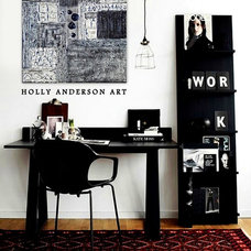 Modern Home Office by Holly Anderson Fine Art