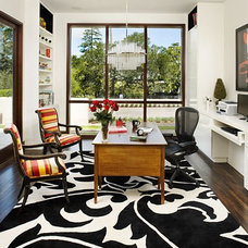 Contemporary Home Office by lisa rubenstein - real rooms design