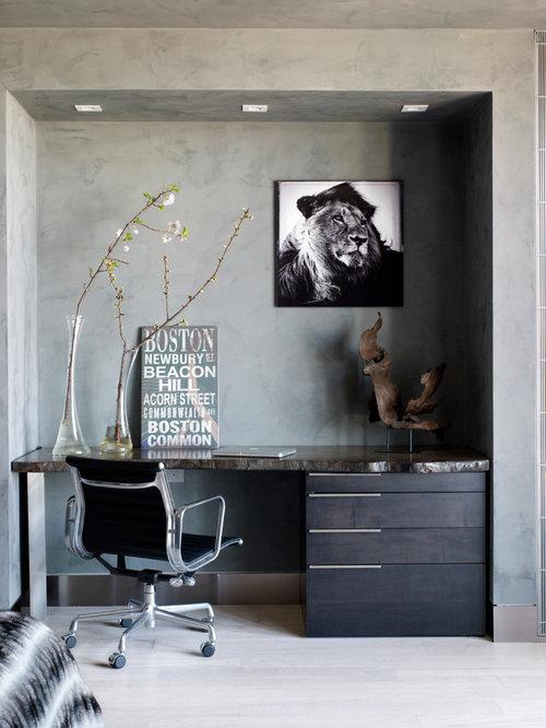 Zen home office design ideas remodels photos - Zen office decorating ideas ...