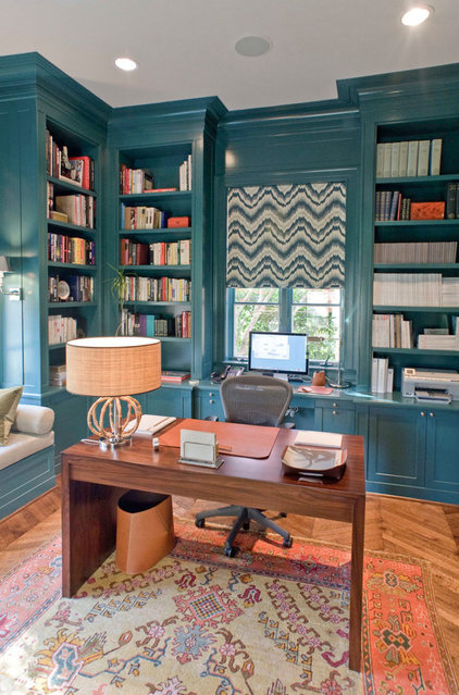 Contemporary Home Office by J Wilson Fuqua & Assoc. Architects