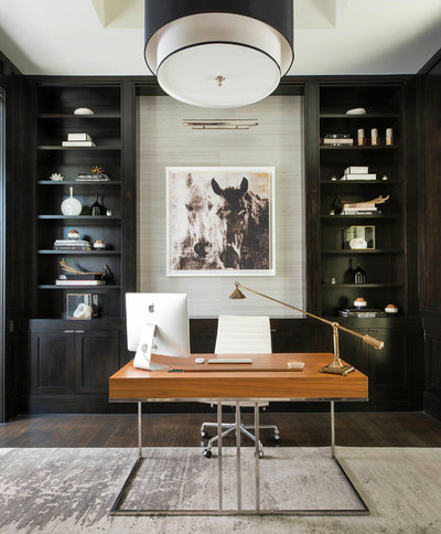 Contemporary Home Office by Ellen Grasso & Sons, LLC