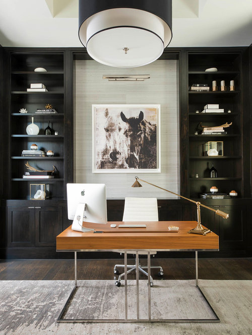 Contemporary home office design ideas remodels photos Modern home office ideas