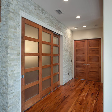 Contemporary Doors - Maple 5-panel Solid Wood