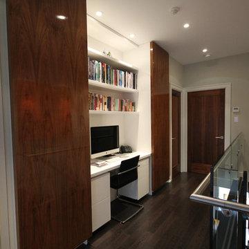 Contemporary Hallway Office Nook