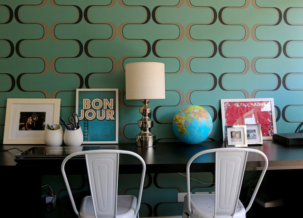 Contemporary Home Office by Allie Siliga