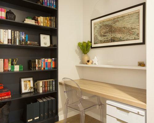 Bureau contemporain avec un sol en vinyl photos et id es for Petit bureau contemporain