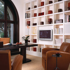Contemporary Home Office by alene workman interior design, inc