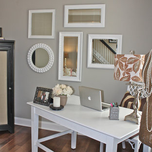 Example of a trendy home office design in Charlotte