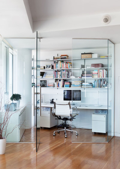 Contemporary Home Office & Library Contemporary Home Office