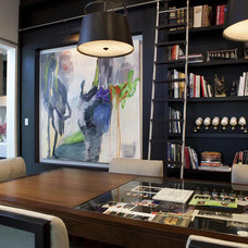 Contemporary Home Office by Charlotte Dunagan Design Group