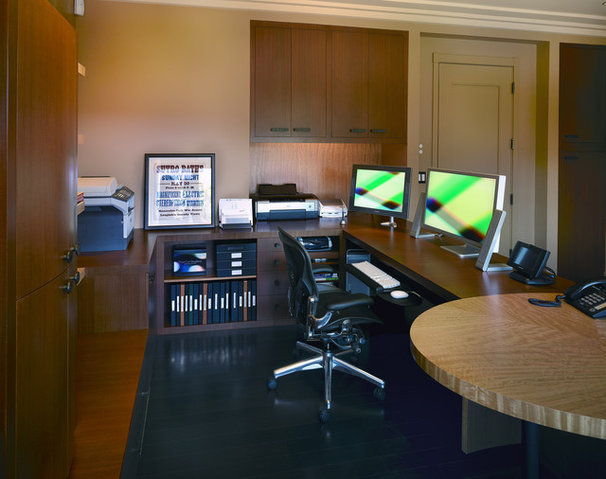 Contemporary Home Office by InHouse Design Studio