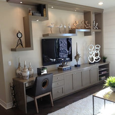 Contemporary Home Office by Custom Closets & More...
