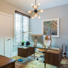 Contemporary Home Office by JL Interior Design, LLC