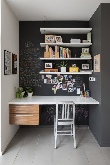 Contemporary Home Office by John Donkin Architect Inc.