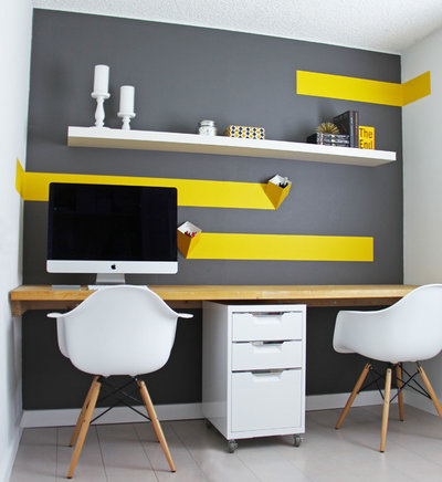 de quelle couleur repeindre son bureau pour tre efficace. Black Bedroom Furniture Sets. Home Design Ideas