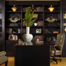 Contemporary Home Office by Architectural Details & Woodworking, Inc.
