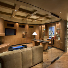 Contemporary Home Office by Linear Fine Woodworking