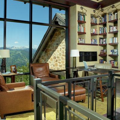 Example of a trendy freestanding desk home office design in Denver