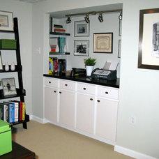 Contemporary Home Office by Shoshana Gosselin