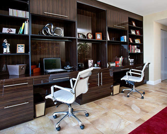 Contemporary Home Office by LS Interiors Group, Inc.