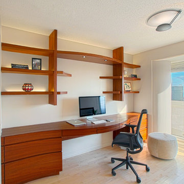 Contemporary Home Office Remodel