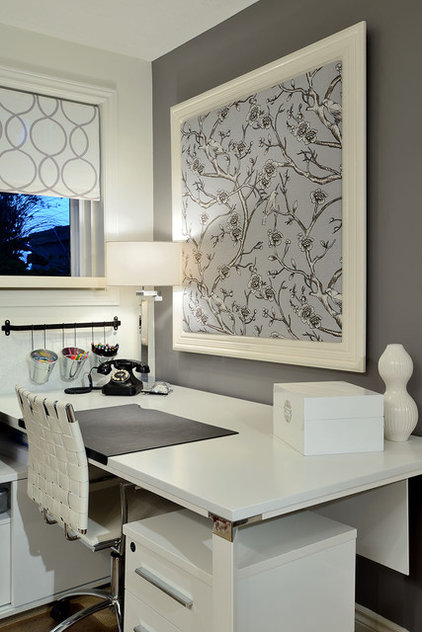 Contemporary Home Office by Sarah St. Amand Interior Design