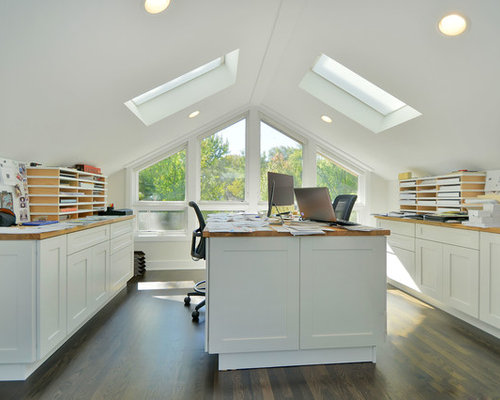 Attic Office Home Design Ideas Pictures Remodel And Decor