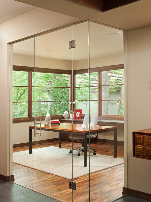 Wood And Glass Partition Houzz