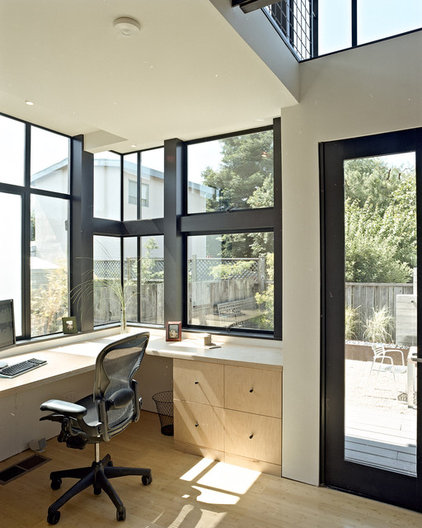Contemporary Home Office by WA design