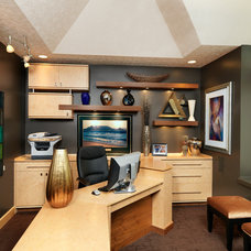 Contemporary Home Office by Albrecht Wood Interiors