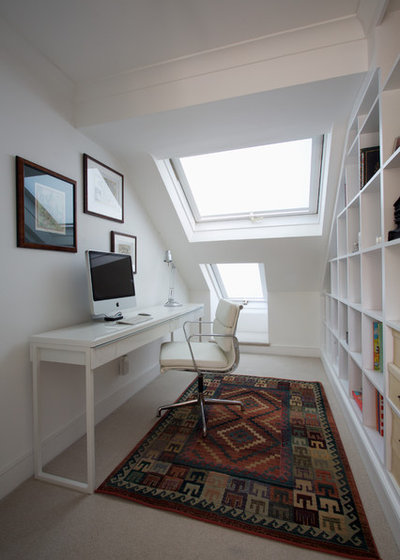 Contemporary Home Office & Library by Gregory Davies Photography