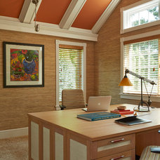 Transitional Home Office by Eminent Interior Design