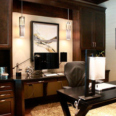 Contemporary Home Office by Traci Connell Interiors