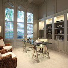 Contemporary Home Office by Brown's Interior Design