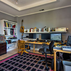 Contemporary Home Office by Studio S Squared Architecture, Inc.