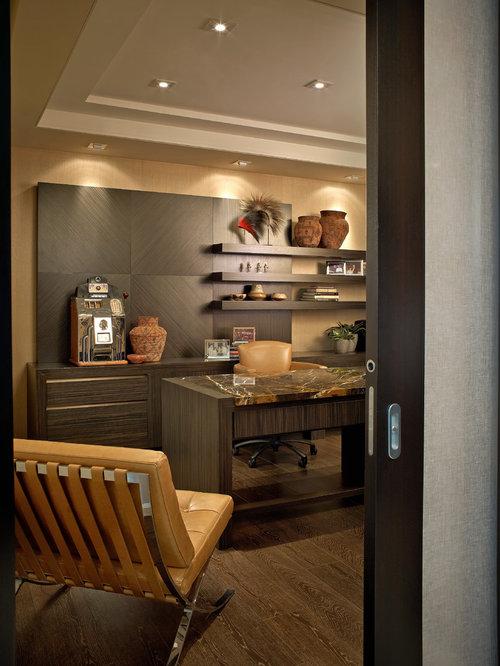 home office wall unit. modren unit example of a trendy freestanding desk dark wood floor home office design in  miami for home office wall unit