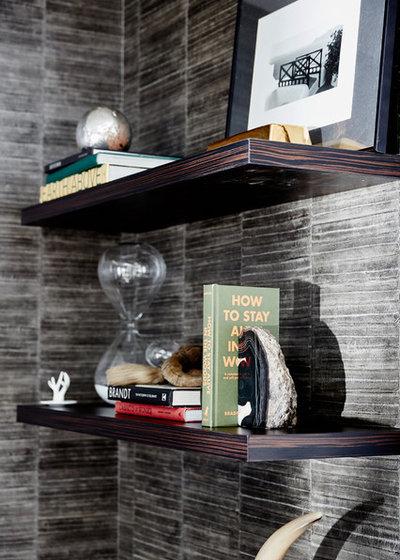Contemporary Home Office by Carolina V. Gentry, RID