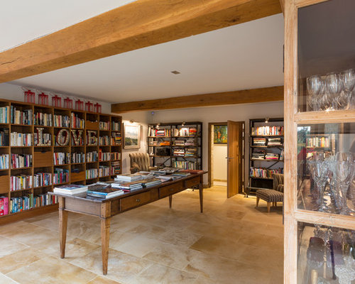 This Is An Example Of A Rural Home Office And Library With A Reading Nook,