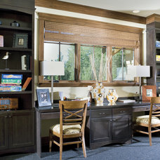 Traditional Home Office by Alan Mascord Design Associates Inc