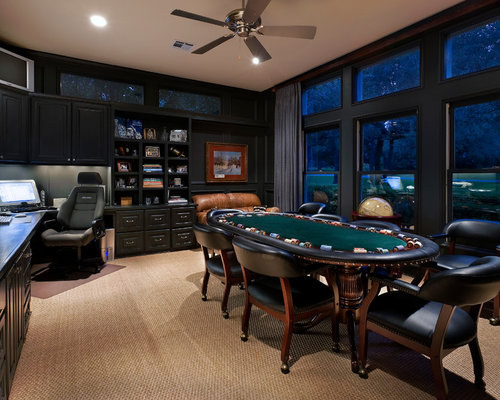 Man Cave Office Furniture : Poker room houzz
