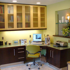 Contemporary Home Office by Corvallis Custom Kitchens & Baths