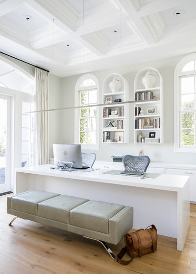 Traditional Home Office & Library by Nate Fischer Interiors