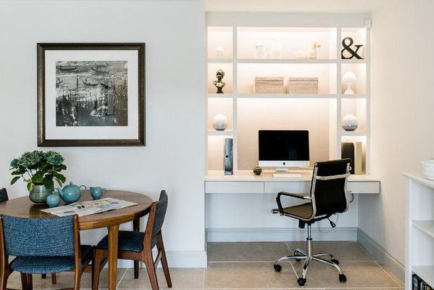 Modern Home Office & Library by Lauren Gilberthorpe Interiors