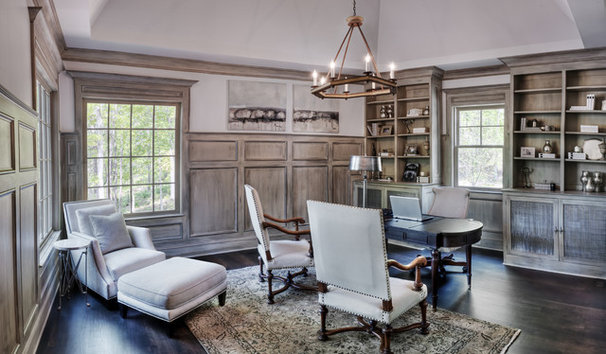 Traditional Home Office by Gabriel Builders Inc.