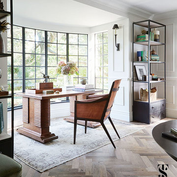 Country Club - french tudor renovation featured in Traditional Home magazine