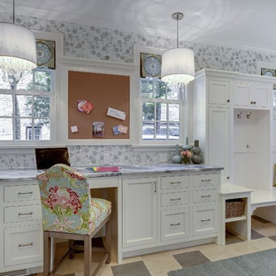 Home office - transitional home office idea in Minneapolis