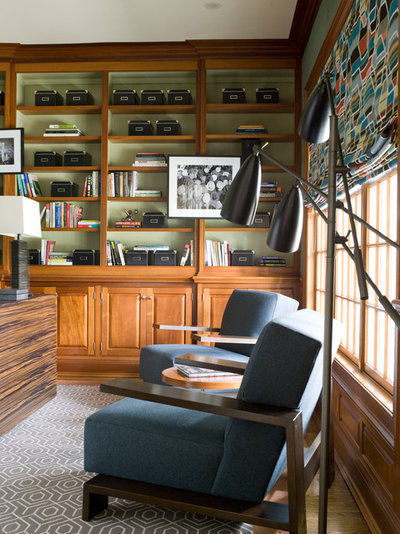 Contemporary Home Office by S. B. Long Interiors